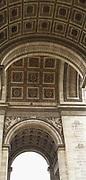 pillars of the Arc de triomphe in Paris
