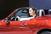 Mazda automaker displays its MX-5 car during Shanghai Motor Show, in Shanghai, China, on April 20, 2009. Shanghai auto show opened Monday for the press and will be open April 24-28 for the public. China is the only major auto market still growing despite the global economic slowdown. U.S. and global auto makers see China as the place where they can find the sales they desperately lack in their home market. Chinese automakers see the opportunity to assess themselves as major players in the world market. Photo by Lucas Schifres/Pictobank