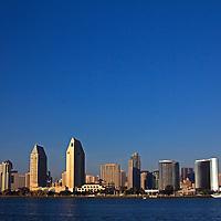 USA, California, San Diego. San Diego City Skyline.