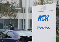 © Licensed to London News Pictures. FILE PICTURE DATED 12/10/2011. London, UK. The RIM data centre in Slough where problems with Blackberry servers has arisen in the past. Today, 21st Septemebr 2012, RIM the makers of Blackberry mobile devices have apologised to customers in the UK after some users experience issues with their handsets.. Photo credit : Stephen Simpson/LNP