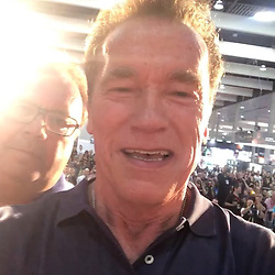 """Arnold Schwarzenegger releases a photo on Instagram with the following caption: """"I went to elementary school with Karl, Franz, and Peter and today we are all together at the Arnold Sports Festival Barcelona. What a joy to bring them with me to experience this! And what a fantastic reminder that none of us are self-made. We're the product of everyone around us who has helped, inspired, and supported along the way."""". Photo Credit: Instagram *** No USA Distribution *** For Editorial Use Only *** Not to be Published in Books or Photo Books ***  Please note: Fees charged by the agency are for the agency's services only, and do not, nor are they intended to, convey to the user any ownership of Copyright or License in the material. The agency does not claim any ownership including but not limited to Copyright or License in the attached material. By publishing this material you expressly agree to indemnify and to hold the agency and its directors, shareholders and employees harmless from any loss, claims, damages, demands, expenses (including legal fees), or any causes of action or allegation against the agency arising out of or connected in any way with publication of the material."""