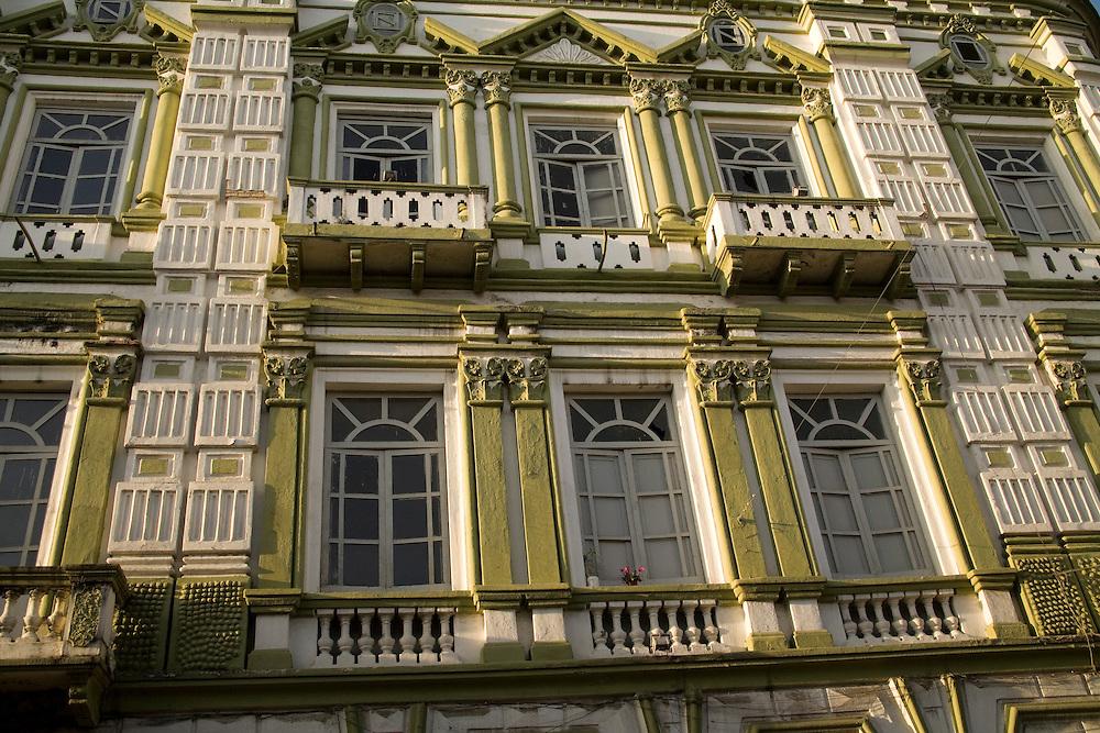 Historic building, Cuenca, Ecuador, South America.   Cuenca is a UNESCO World Heritage Site.