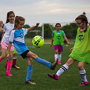Girls practice for the Murfreesboro Soccer Club at the Richard Siegel Soccer Park in Murfreesboro, Tennessee. Nathan Lambrecht/Journal Communications
