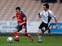 Photo: Glyn Thomas.<br />Port Vale v Swansea City. Coca Cola League 1. 08/04/2006.<br />Port Vale's Sam Togwell (R) and Swansea's Leon Britton.