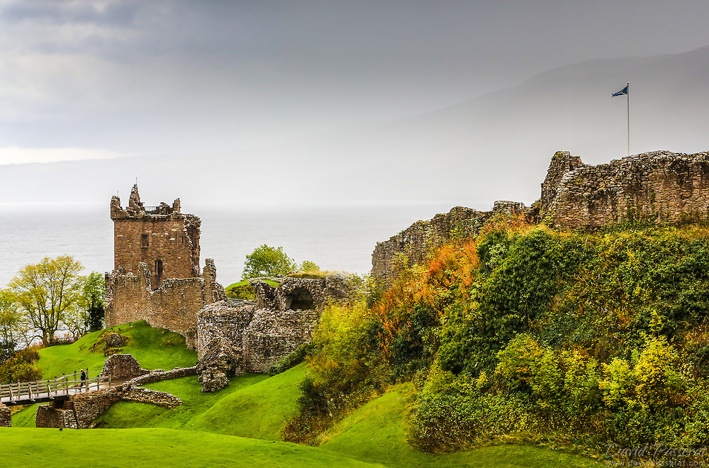 Urquhart Castle sits beside Loch Ness in the Highlands of Scotland. The castle is 21 kilometres south-west of Inverness and 2 kilometres east of the village of Drumnadrochit.
