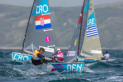 03.08.2012, Bucht von Weymouth, GBR, Olympia 2012, Segeln, im Bild Hoegh-Christensen Jonas, (DEN, Finn) // during Sailing, at the 2012 Summer Olympics at Bay of Weymouth, United Kingdom on 2012/08/03. EXPA Pictures © 2012, PhotoCredit: EXPA/ Daniel Forster ***** ATTENTION for AUT, CRO, GER, FIN, NOR, NED, POL, SLO and SWE ONLY!