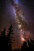 The Milky Way over Cedar Breaks National Monument, Utah USA