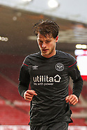 Portrait of Brendford midfielder Mathias Jensen (8) during the EFL Sky Bet Championship match between Middlesbrough and Brentford at the Riverside Stadium, Middlesbrough, England on 6 February 2021.