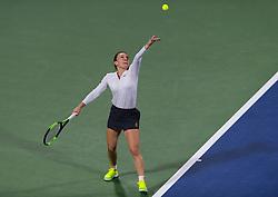 February 21, 2019 - Dubai, ARAB EMIRATES - Simona Halep of Romania in action during her quarter-final match at the 2019 Dubai Duty Free Tennis Championships WTA Premier 5 tennis tournament (Credit Image: © AFP7 via ZUMA Wire)