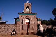 The monastery on the extinct volcano of Mount Zikwala near Debre Zeit, Ethiopia