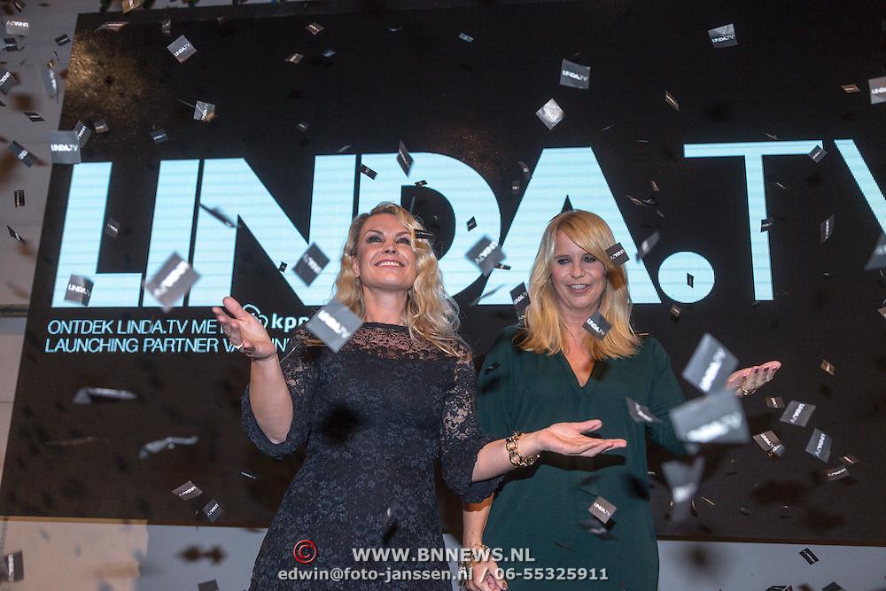 NLD/Amsterdam/20151026 - Lancering Linda TV, Linda de Mol en Yildau van der Bijl