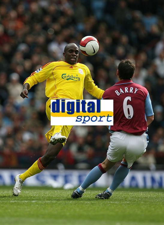 Photo: Rich Eaton.<br /> <br /> Aston Villa v Liverpool. The Barclays Premiership. 18/03/2007. Momo Sissoko left of Liverpool and Villas Gareth Barry
