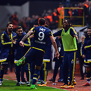 Fenerbahce's Fernandao (C) during their Turkish Super League soccer match Akhisar Belediye Genclik Spor between Fenerbahce at the 19 Mayis Stadium in Manisa Turkey on Sunday, 06 March 2016. Photo by TURKPIX