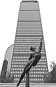 USA, Massachusetts, Boston Prudential Building and Quest Eternal Statue by Donna De Lure