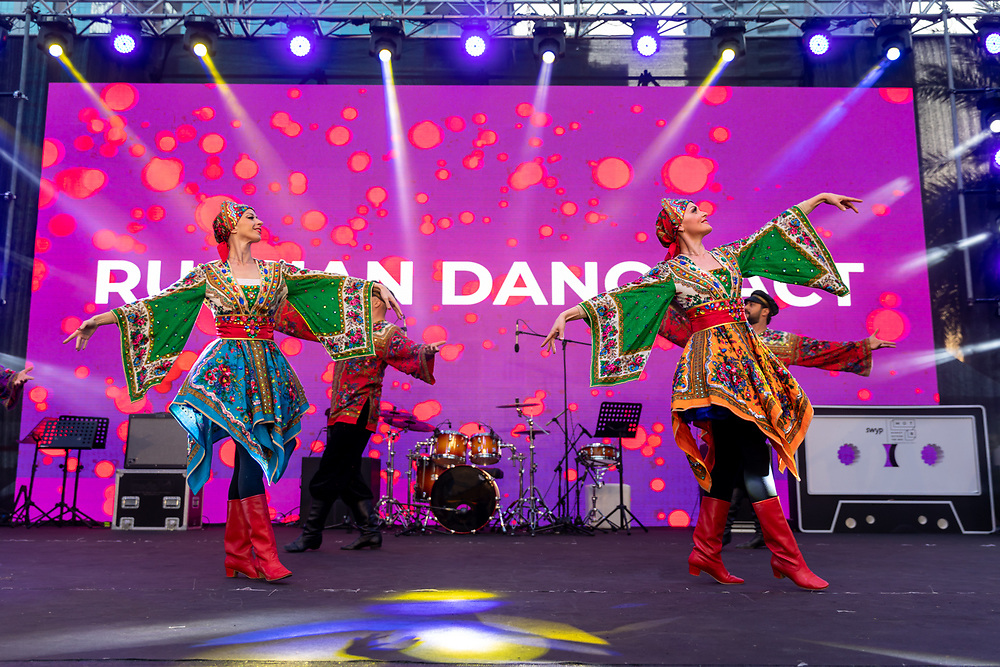 Russian dancers at Burj Park, Dubai. DSF 2020