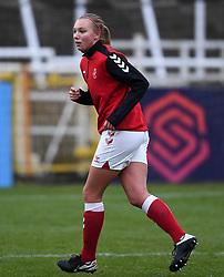 Kiera Skeels of Bristol City Women warms up prior to kick off  - Mandatory by-line: Ryan Hiscott/JMP - 14/02/2021 - FOOTBALL - Twerton Park - Bath, England - Bristol City Women v Chelsea Women - FA Womens Super League 1