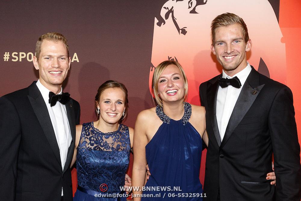 NLD/Amsterdam/20151215 - NOC / NSF Sportgala 2015, Alexander Brouwer en partner, Robert Meeuwsen en partner