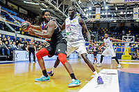 Andre Harris / Landing Sane - 23.01.2015 - Paris Levallois / Dijon - 18eme journee de Pro A<br /> Photo : Anthony Dibon / Icon Sport