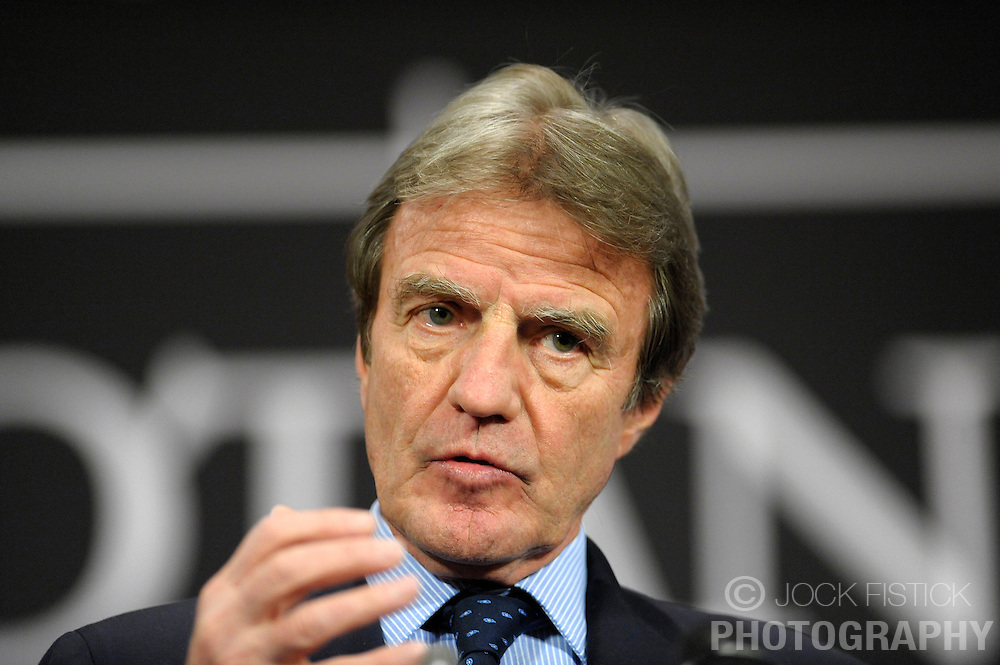 Bernard Kouchner, France's foreign minister, speaks during a news conference following a NATO foreign ministers meeting at NATO headquarters in Brussels, Thursday, March 5, 2009. (Photo © Jock Fistick)