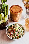 "Lao Beef ""larb"" at Thai Lao Yeh Restaurant at Cabochon Hotel."