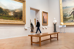 Spencer Finch speaks about William Michael Harnett - Still Life - Violin and Music and The Artist's Letter Rack in the American Wing galleries at The Metropolitan Museum of Art for Artist Project 2015 episode. © 2015 MMA, photographed by Jackie Neale