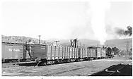D&RGW #315 switching freight cars in Durango yard.<br /> D&RGW  Durango, CO  Taken by Maxwell, John W. - 3/1/1946