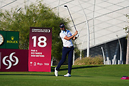Scott Jamieson (SCO) on the 18th during Round 1 of the Commercial Bank Qatar Masters 2020 at the Education City Golf Club, Doha, Qatar . 05/03/2020<br /> Picture: Golffile   Thos Caffrey<br /> <br /> <br /> All photo usage must carry mandatory copyright credit (© Golffile   Thos Caffrey)