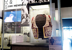 Jimi Hendrix 's vest is on display in the Smithsonian National Museum of African American History and Culture on September 21, 2016 in Washington, DC.The National Museum of African American History and Culture will open on Sept. 24 in Washington thirteen years since Congress and President George W. Bush authorized its construction, the 400,000-square-foot building stands on a five-acre site on the National Mall, close to the Washington Monument. President Obama will speak at its opening dedication.Photo by Olivier Douliery/Abaca
