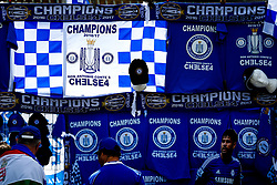 Champion flag outside the stadium to celebrate Chelsea's 2016/17 Premier League win - Rogan Thomson/JMP - 21/05/2017 - FOOTBALL - Stamford Bridge - London, England - Chelsea v Sunderland - Premier League..