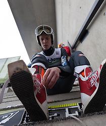 04.01.2014, Bergisel Schanze, Innsbruck, AUT, FIS Ski Sprung Weltcup, 62. Vierschanzentournee, Probesprung, im Bild Michael Hayboeck (AUT) // Michael Hayboeck (AUT) during Trial Jump of 62nd Four Hills Tournament of FIS Ski Jumping World Cup at the Bergisel Schanze, Innsbruck, Austria on 2014/01/04. EXPA Pictures © 2014, PhotoCredit: EXPA/ JFK