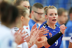 October 21, 2017 - Rzeszow, Poland - Agata Sawicka (Developres),  in action during CEV Volleyballl Champions League volleybal women match between Developres Rzeszow and Hapoel Kfar Saba on 21 October 2017 in Rzeszow, Poland. (Credit Image: © Foto Olimpik/NurPhoto via ZUMA Press)