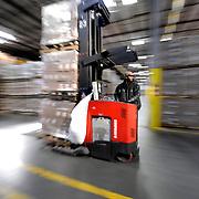 Warehouse forklift driver in a Covidien Distribution Center in Atlanta, GA