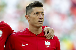 June 19, 2018 - Moscow - Robert Lewandowski of Poland pictured the 2018 FIFA World Cup Group H match between Poland and Senegal at Spartak Stadium in Moscow, Russia on June 19, 2018  (Credit Image: © Andrew Surma/NurPhoto via ZUMA Press)
