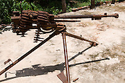Rusty chinese Machine gun Cambodia