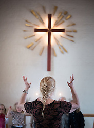 9 April 2017, Botkyrka, Sweden: Palm Sunday in Tullinge Church, of the Church of Sweden.