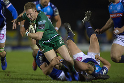March 22, 2019 - Ireland - Kieran Marmion of Connacht with the ball during the Guinness PRO14 match between Connacht Rugby and Benetton Rugby at the Sportsground in Galway, Ireland on March 22, 2019  (Credit Image: © Andrew Surma/NurPhoto via ZUMA Press)