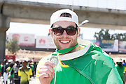 22/11/2015  repro fee. A group of  irish people travelled with Gorta-Self Help Africa travelled to the capital of Ethiopia Addis Ababa for the great Ethiopian run. In temperatures in the mid 30 degree heat and 40,000 people and a city at 7,500 feet above sea level, it's no mean feat.   James Gallagher, Irish League Credit of Union  Foundation finish the race in a great time  .  Photo:Andrew Downes.