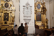 A monument at Holy Cross Church in Warsaw, where Chopin's heart is interred.