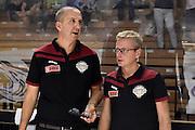 De Raffaele Walter Billio Alberto<br /> Vanoli Cremona - Umana Reyer Venezia<br /> Lega Basket Serie A 2016/2017<br /> Cremona, 14/09/2016<br /> Foto Ciamillo-Castoria