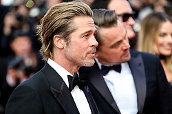 """CANNES - MAY 21: Premiere of """" ONCE UPON A TIME... IN HOLYWOOD """" during the 2019 Cannes Film Festival on May 21, 2019 at Palais des Festivals in Cannes, France. CAP/MPI/IS/LB ©LB/IS/MPI/Capital Pictures. 21 May 2019 Pictured: Brad Pitt, Leonardo DiCaprio, Quentin Tarantino and Margot Robbi. Photo credit: LB/IS/MPI/Capital Pictures / MEGA TheMegaAgency.com +1 888 505 6342"""
