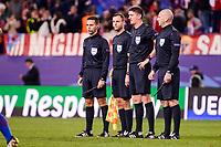 Referees Craig Thomson, Graeme Stewart, David McGeachie and Alan Mulvanny during a match of UEFA Champions League at Vicente Calderon Stadium in Madrid. November 01, Spain. 2016. (ALTERPHOTOS/BorjaB.Hojas)