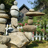 An artistic rock cairn, or stack.