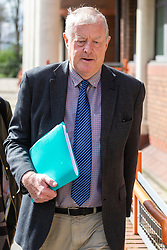 Philip Angus, 64,at Willesden Magistrates Court in London where it is alleged that he stole a 'Lord Dowding' locomotive nameplate to the value of approximately £60,000. Air Chief Marshal Sir Hugh Dowding was in charge of RAF fighter command during Battle of Britain. London, April 04 2019.