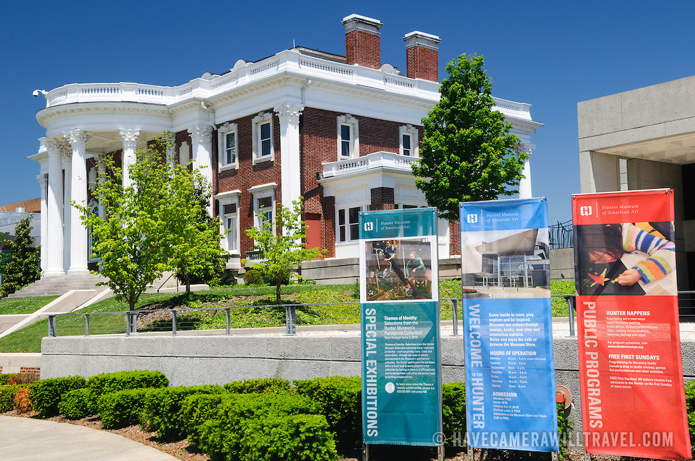 Exterior of the Hunter Museum of American Art in Chattanooga Tennessee