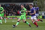 Forest Green Rovers Dayle Grubb(8) on the ball during the EFL Sky Bet League 2 match between Forest Green Rovers and Exeter City at the New Lawn, Forest Green, United Kingdom on 4 May 2019.
