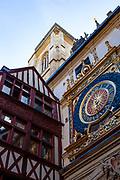 Gros-Horloge - great clock, a fourteenth century clock in