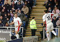 Photo: Kevin Poolman.<br />Reading v Birmingham City. The FA Cup. 28/01/2006.<br />David Dunn (L) and Neil Kilkenny celebrate the Birmingham goal.