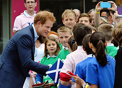 © Licensed to London News Pictures. 10/06/2015. <br /> LONDON, UK. HRH PRINCE HARRY, Jonny Wilkinson, Will Greenwood and local school children launch the 100 days to go until the Rugby World Cup 2015 at Twickenham Stadium with the Web Ellis Cup, London, Wednesday 10 June 2015. Photo credit : Hannah McKay/LNP