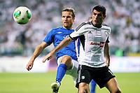 Fotball , 7. august 2013<br /> UEFA Champions League Third Qualifying Round Second Match in Warsaw Legia Warsaw Molde FK<br /> DANIEL Berg HESTAD (L), WLADIMIR DWALISZWILI <br /> <br /> Norway only