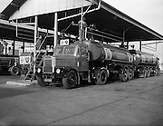 30/10/1961<br /> 10/30/1961<br /> 30 October 1961<br /> Irish Shell: Scammell Highwayman Truck and tanker trailer being loaded at the North Wall depot, Dublin.